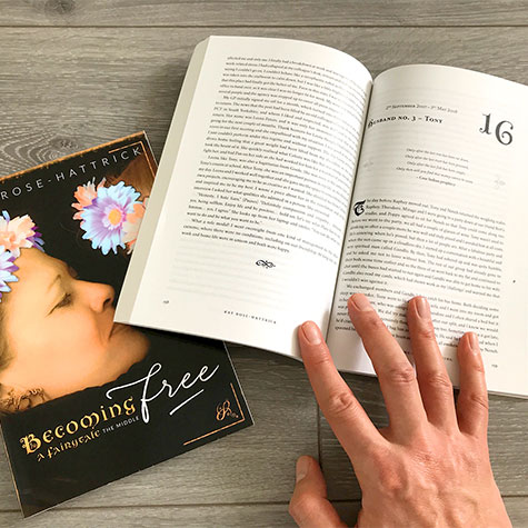 Book design: Kay Rose-Hattrick: Becoming Free and Becoming Me