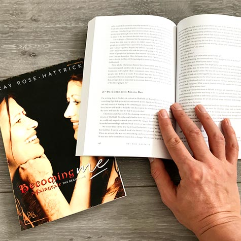 Book design: Kay Rose-Hattrick: Becoming Me and Becoming Free